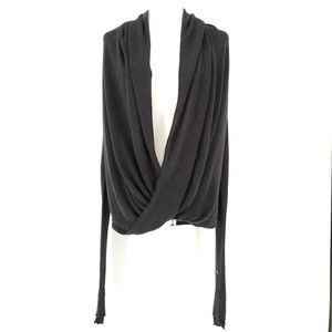 Lululemon Iconic Criss Cross Front Wrap Sweater in Charcoal